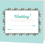 Aqua Amy Folded Invite