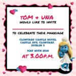 Cartoon Folded Wedding Invite