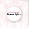 elegant pink folded wedding invitation
