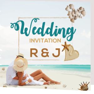 Shell Folded Wedding Invite