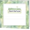 forest green folded invite