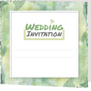 Forest Green Folded Invite
