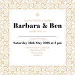 Gold Folded Wedding Invite