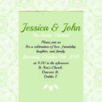 Green Folded Wedding Invite