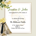 Mr and Mrs Folded Wedding Invite