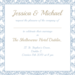 Pastel Blue Jessica Folded Invite