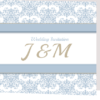Pastel Blue folded invite