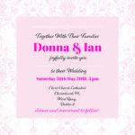 Elegant Pink Folded Wedding Invite