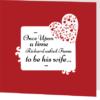 rouge folded wedding invite