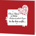 Rouge Romance Folded Wedding Invite