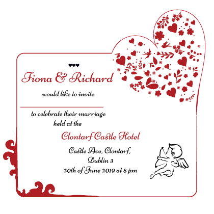 rouuge romance inner wedding invite