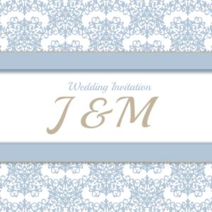 Pastel Blue Jessica Flat Invitation