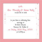 Sunset Pink Ava Folded Invite