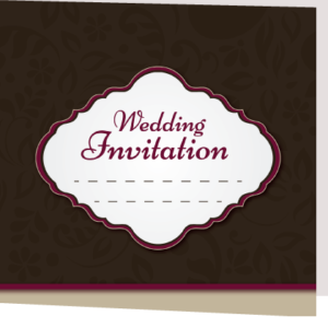 Eclipsed Francis Folded Wedding Invite