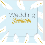 Sky Blue Folded Wedding Invite