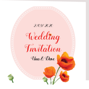 Lucid Florist Folded Wedding Invite
