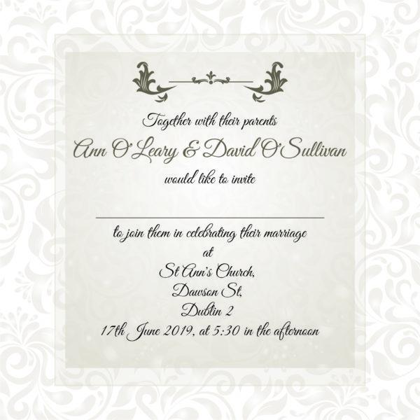 elegant wedding invitation inner
