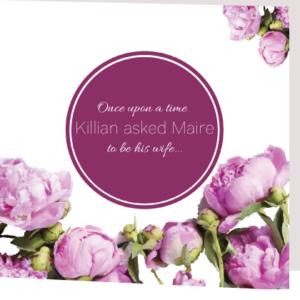 Purple Floral Folded Wedding Invite