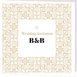 Gold Folded Wedding Invite
