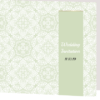 folded green wedding invite