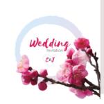 Pink Floral Folded Wedding Invite