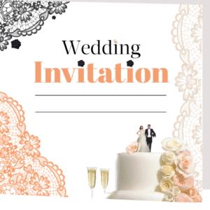 Wedding Cake Folded Invite