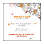 Touch of Orange Wedding Invite
