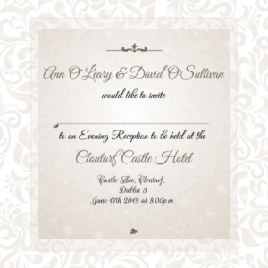 Elegant Ann Evening Invitation