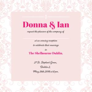 Elegant Pink Evening Invitation