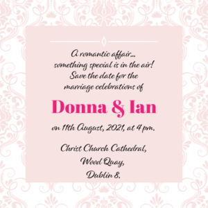 Elegant Pink Save The Date