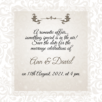 Elegant Save The Date