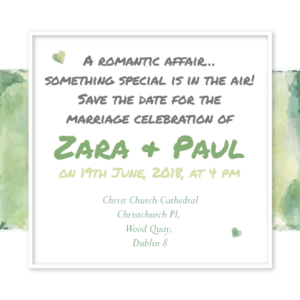 Forest Green Save The Date