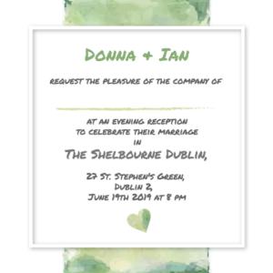 Forest Green Evening Invitation