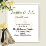 Mr and Mrs Evening Invitation