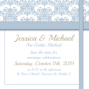 Pastel Blue Save The Date