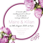 Purple Floral Save The Date