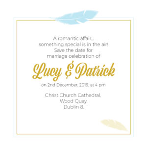 Sky Blue Save The Date