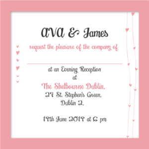 Sunset Pink Evening Invitation