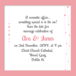 Sunset Pink Save The Date