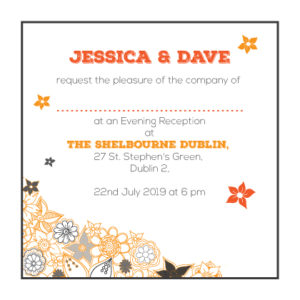 Touch of Orange Evening Invitation