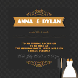 Wedding Attire Evening Invitation