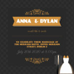 Wedding Attire Folded Invite