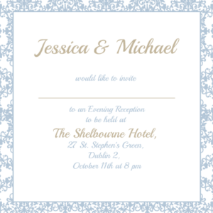 Pastel Blue Evening Invitation