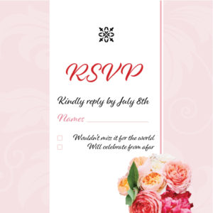 Red and Pink Floral RSVP