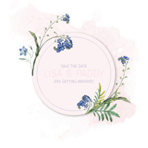 Floral Pink and White Save The Date