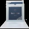 moonlight silver pocket with king blue invitation