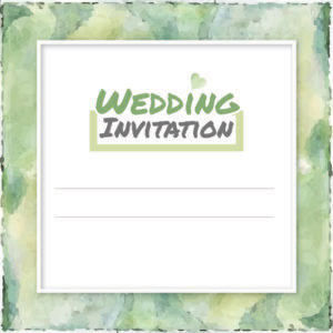 forest green wedding invite collection