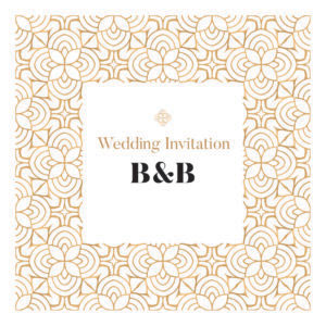 gold wedding invite collection