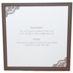 Majestic Marble White Pocket Invitation with Brown Border