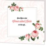 Light Pink Floral Folded Wedding Invitation